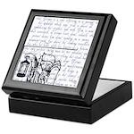 Tarot Key 9 - The Hermit Keepsake Box