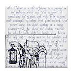 Tarot Key 9 - The Hermit Tile Coaster