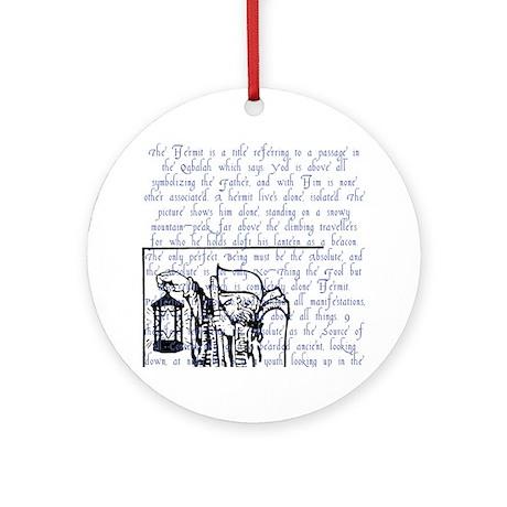 Tarot Key 9 - The Hermit Ornament (Round)