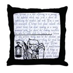 Tarot Key 9 - The Hermit Throw Pillow