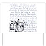 Tarot Key 9 - The Hermit Yard Sign