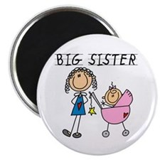 """Big Sister With Little Sis 2.25"""" Magnet (10 pack)"""