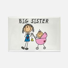 Big Sister With Little Sis Rectangle Magnet