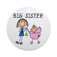 Big Sister With Little Sis Ornament (Round)