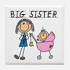 Big Sister With Little Sis Tile Coaster