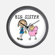 Big Sister With Little Sis Wall Clock