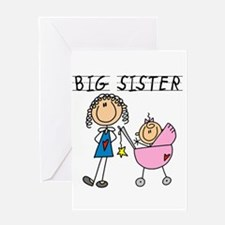 Big Sister With Little Sis Greeting Card