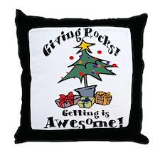 Giving Rocks Throw Pillow