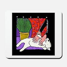 Westie Tummy Tickle Mousepad