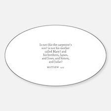 MATTHEW 13:55 Oval Decal