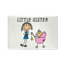 Little Sister With BIg Sis Rectangle Magnet