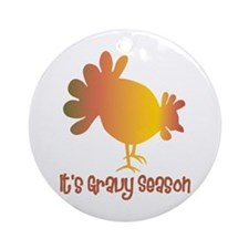 Thanksgiving Humor Gravy Ornament (Round)