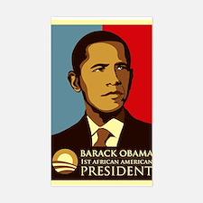 Obama Graffiti Rectangle Decal
