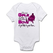 Some Girls...Snowmobile Infant Bodysuit