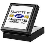 Property of Landscaper Drinking Team Keepsake Box