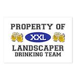 Property of Landscaper Drinking Team Postcards (Pa