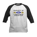 Property of Landscaper Drinking Team Kids Baseball