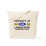 Property of Landscaper Drinking Team Tote Bag