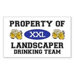 Property of Landscaper Drinking Team Sticker (Rect