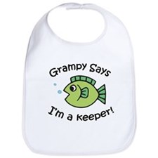 Grampy Says I'm a Keeper Bib