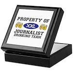 Property of Journalist Drinking Team Keepsake Box