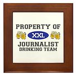 Property of Journalist Drinking Team Framed Tile