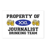 Property of Journalist Drinking Team Postcards (Pa