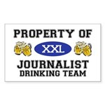 Property of Journalist Drinking Team Sticker (Rect