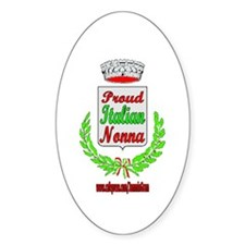 PROUD NONNA Oval Decal