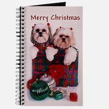 Shih Tzu Christmas Shopping Bag Journal