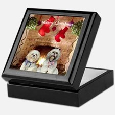 Shih Tzu Christmas Shopping Bag Keepsake Box