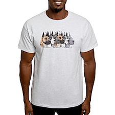 Great Dane Group Show Colors T-Shirt