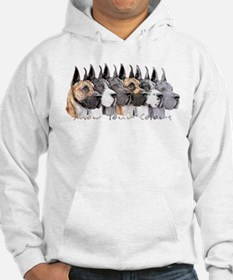 Great Dane Group Show Colors Hoodie