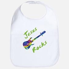 Jesus Rocks with Guitar 2 Bib