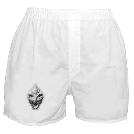 White Dragon Head Boxer Shorts