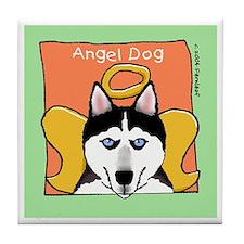 Siberian Husky Dog Memorial Tile Coaster