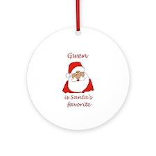 Gwen Christmas Ornament (Round)