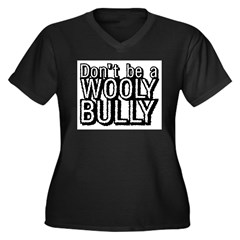 Wooly Bully Women's Plus Size V-Neck Dark T-Shirt