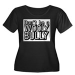 Wooly Bully Women's Plus Size Scoop Neck Dark T-Sh
