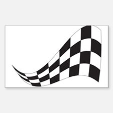 CHECKERED RACE FLAG Rectangle Decal