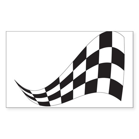 CHECKERED RACE FLAG Rectangle Sticker
