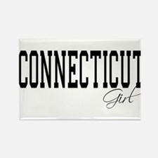 Connecticut Girl Rectangle Magnet