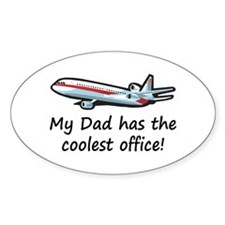 Dad's Airplane Office Oval Decal