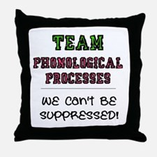 Team Phonological Processes Throw Pillow