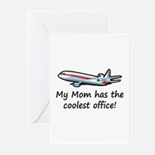 Mom's Cool Airplane Greeting Cards (Pk of 10)