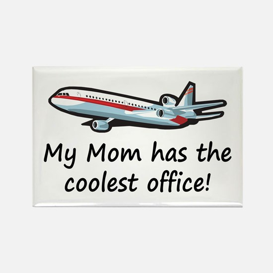 Mom's Cool Airplane Rectangle Magnet (100 pack)