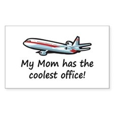 Mom's Cool Airplane Rectangle Decal