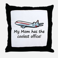 Mom's Cool Airplane Throw Pillow