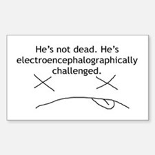Just Challenged 2 Rectangle Decal