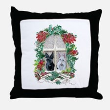 Scottie Terrier Holiday Throw Pillow